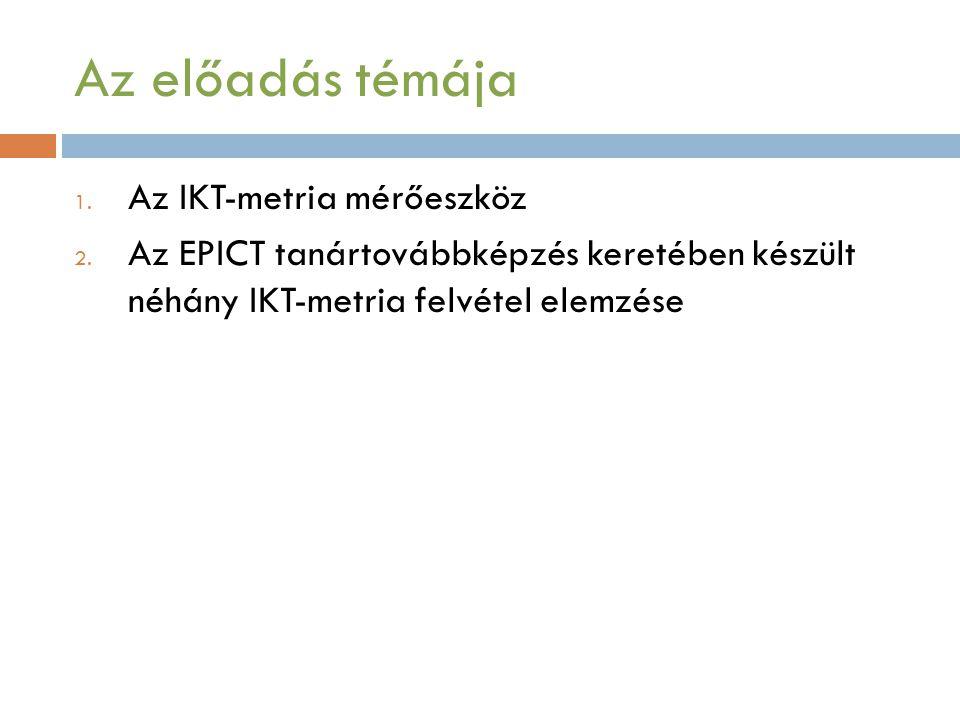Az előadás témája 1.Az IKT-metria mérőeszköz 2.