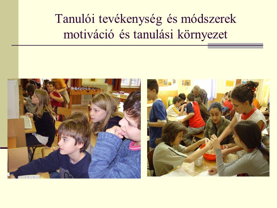 Tanulói tevékenység és módszerek motiváció és tanulási környezet