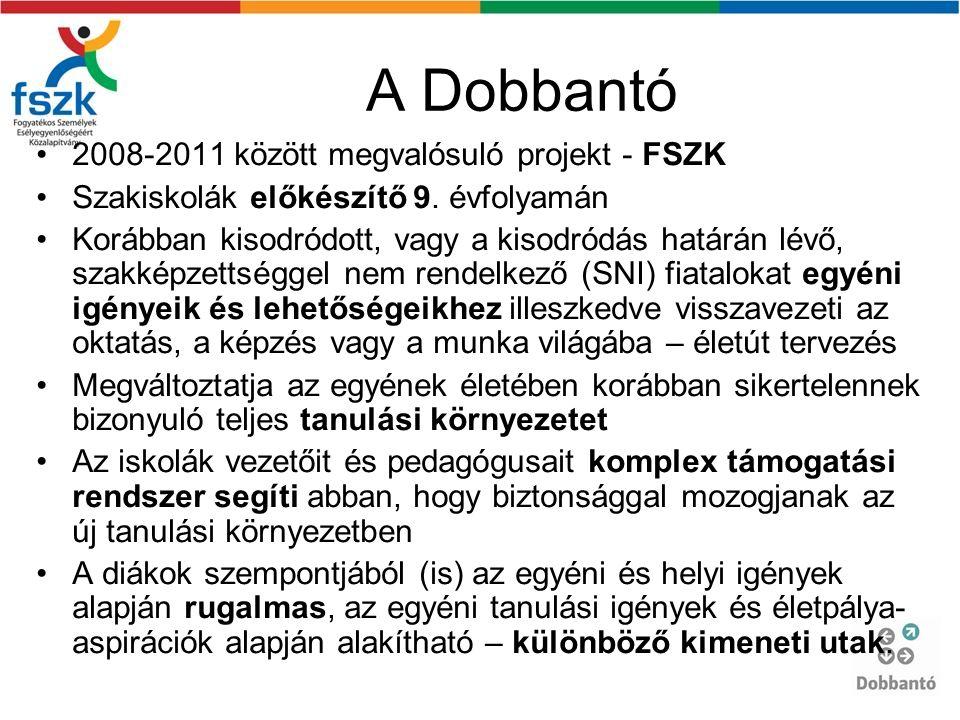 A Dobbantó 2008-2011 között megvalósuló projekt - FSZK Szakiskolák előkészítő 9.