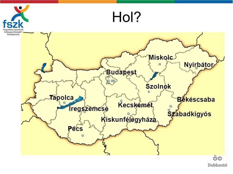 Hol? Pécs Tapolca Iregszemcse Miskolc Nyírbátor Békéscsaba Szabadkígyós Kiskunfélegyháza Kecskemét Szolnok Budapest