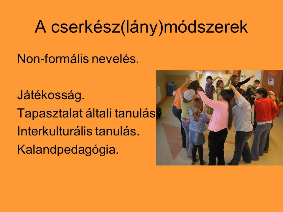 A cserkész(lány)módszerek Non-formális nevelés. Játékosság.