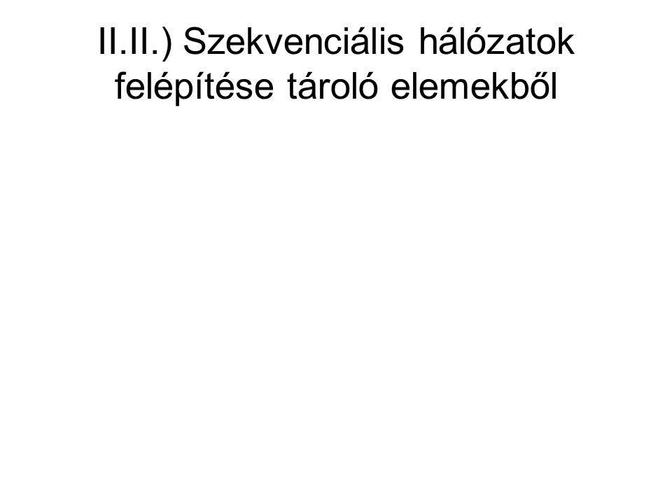 II.II.) Szekvenciális hálózatok felépítése tároló elemekből