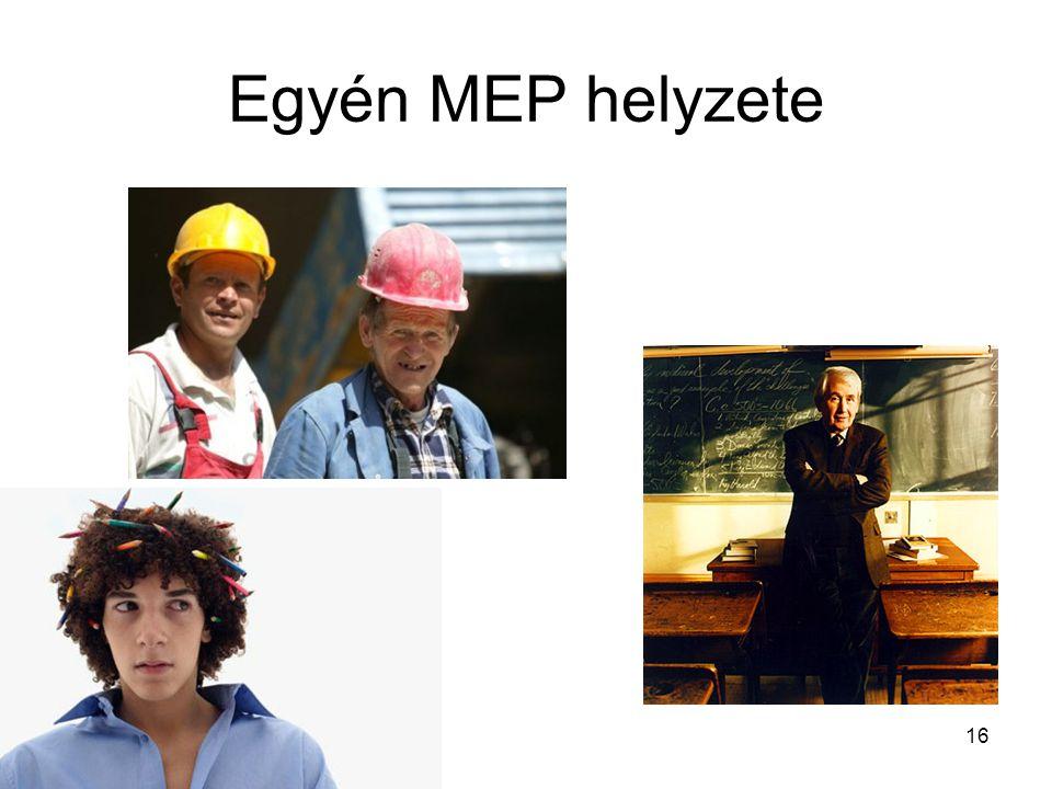 16 Egyén MEP helyzete
