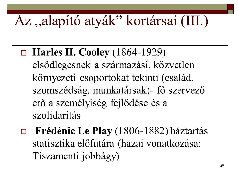 """20 Az """"alapító atyák kortársai (III.)  Harles H."""