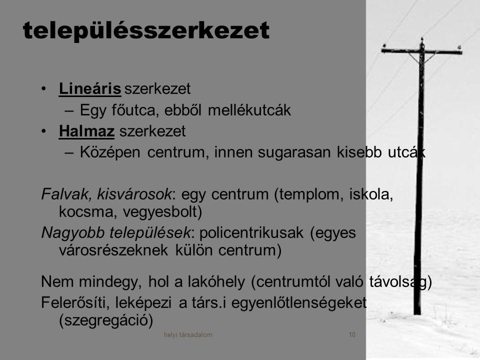 helyi társadalom11 A helyi társadalom viszonyait leíró modellek 1.Tetraéder modell (lsd.