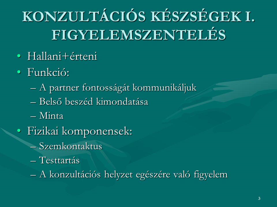 3 KONZULTÁCIÓS KÉSZSÉGEK I.