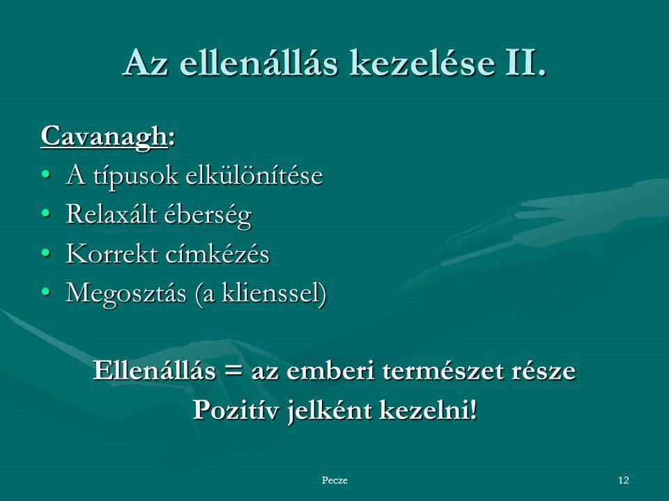 Pecze12 Az ellenállás kezelése II.
