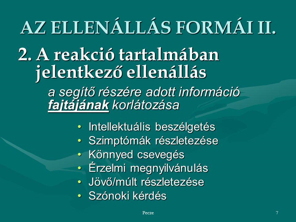 Pecze7 AZ ELLENÁLLÁS FORMÁI II.