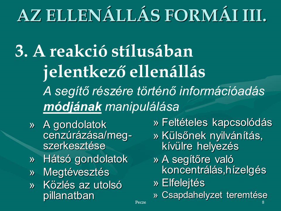 Pecze8 AZ ELLENÁLLÁS FORMÁI III.