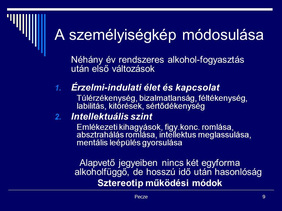 Pecze10 Elhárító mechanizmusok Reális szorongás: természetes – a belső egyensúly fenntartása érdekében elhárítás Elhárító mechanizmusok: manőverek, technikák a szorongás elhárítására 1.