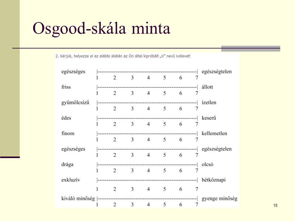 18 Osgood-skála minta