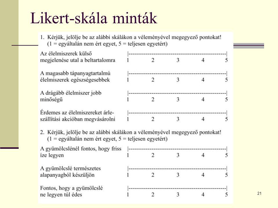 21 Likert-skála minták