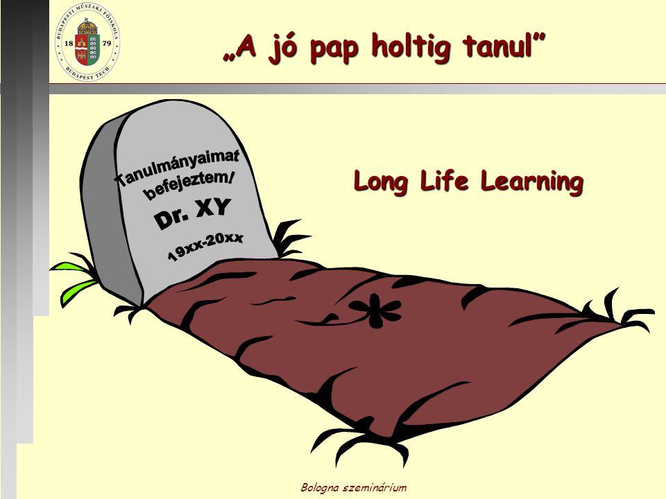 """Bologna szeminárium """"A jó pap holtig tanul"""" Long Life Learning"""