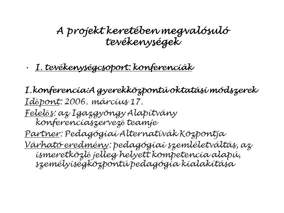 A projektötlet »Határon átível ő együttm ű ködés létrehozása Szerbia és Magyarország között A két ország kapcsolatainak szorosabbra f ű zése az oktatás, kultúra területén Folyamatos kapcsolat kialakítása a projekten keresztül a Berettyóújfaluban m ű köd ő Igazgyöngy Alapítvány és a szabadkai Bácskai Magyar Pedagógusok Egyesülete között