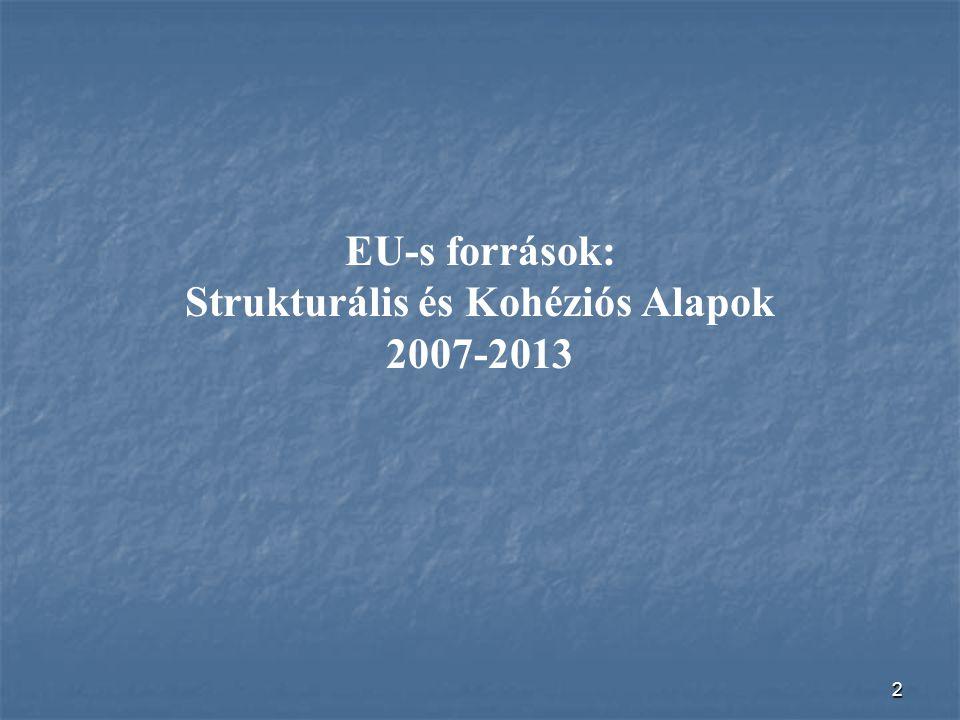 2 EU-s források: Strukturális és Kohéziós Alapok 2007-2013