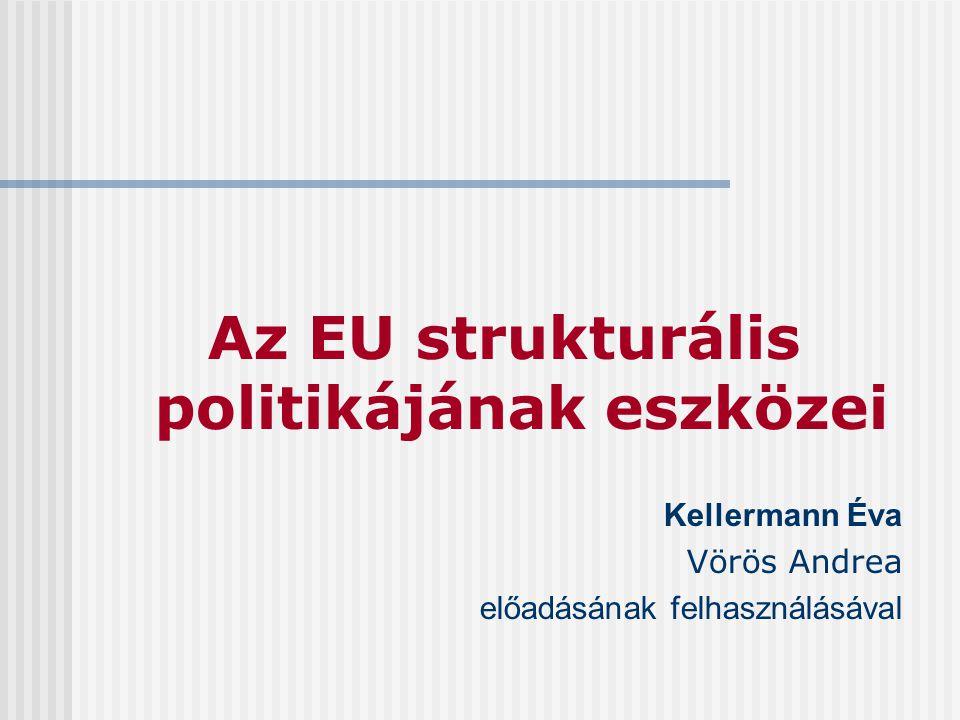 Az EU strukturális politikájának eszközei Kellermann Éva Vörös Andrea előadásának felhasználásával