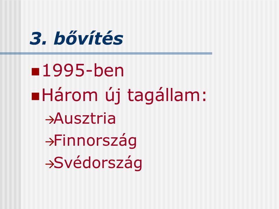 4.bővítés 2004-ben 10 új tagállam.