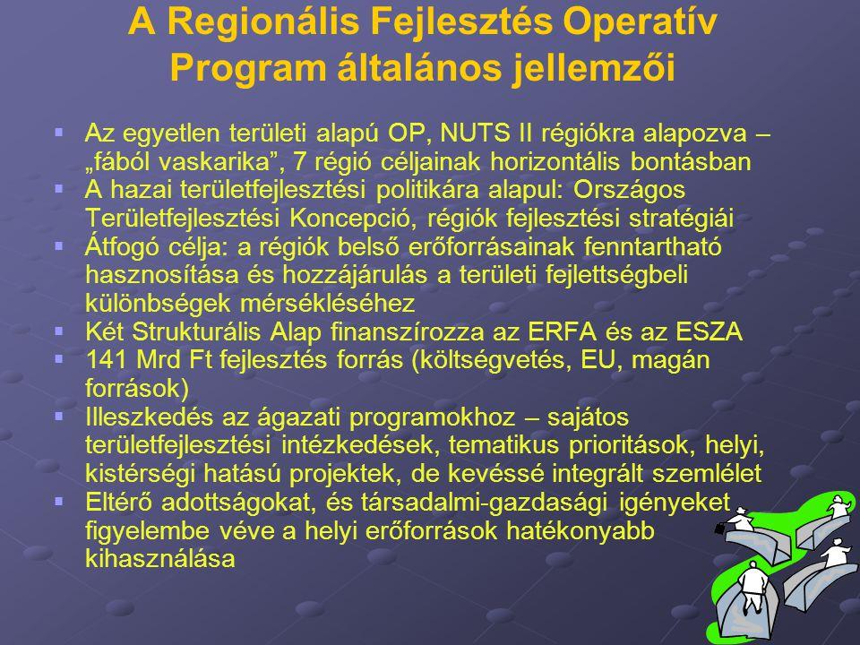 """A Regionális Fejlesztés Operatív Program általános jellemzői   Az egyetlen területi alapú OP, NUTS II régiókra alapozva – """"fából vaskarika"""", 7 régió"""