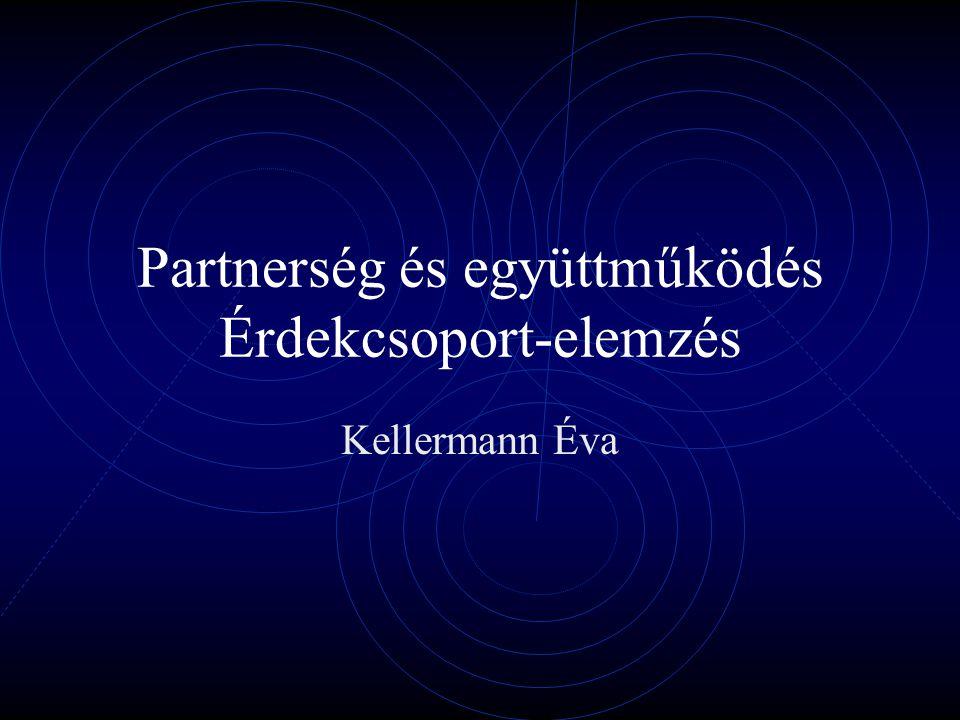 Partnerség és együttműködés Érdekcsoport-elemzés Kellermann Éva
