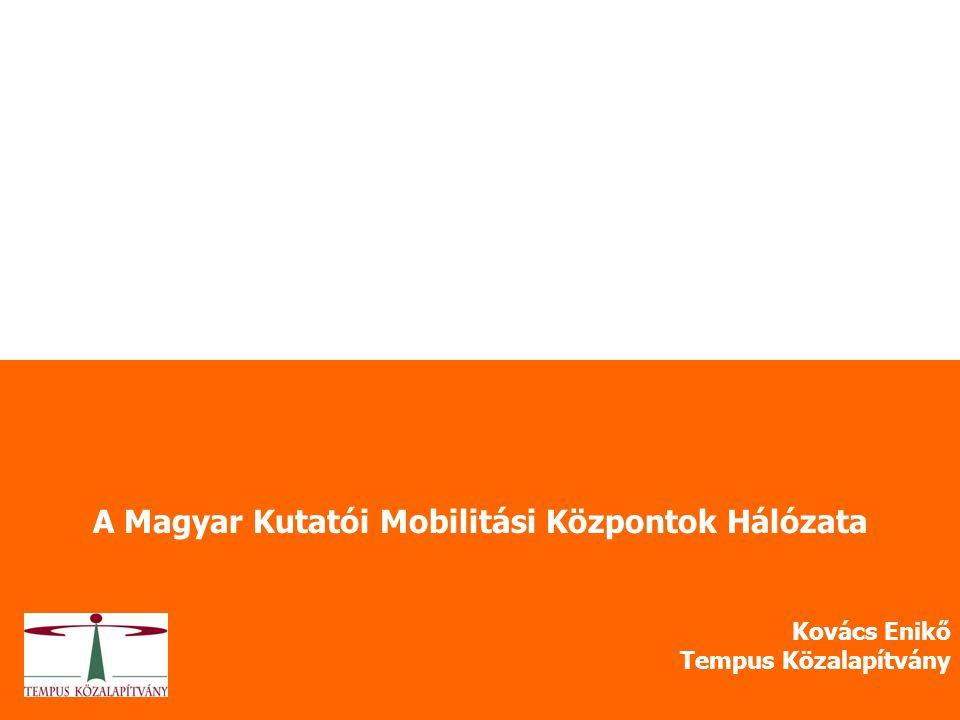 A Magyar Kutatói Mobilitási Központok Hálózata Kovács Enikő Tempus Közalapítvány