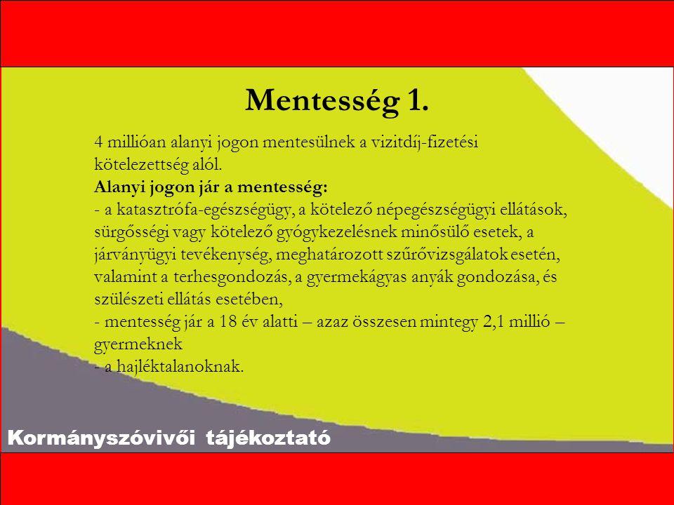 Kormányszóvivői tájékoztató Mentesség 1.