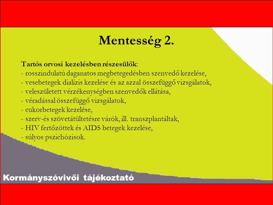 Kormányszóvivői tájékoztató Mentesség 2.