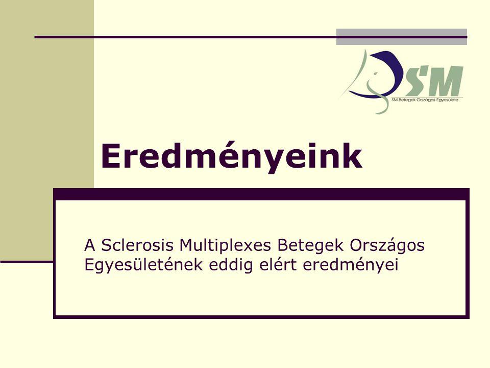 Eredményeink A Sclerosis Multiplexes Betegek Országos Egyesületének eddig elért eredményei