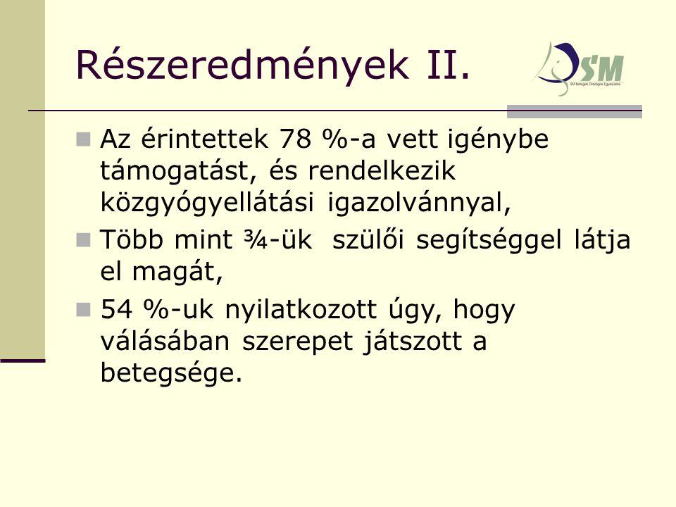 Részeredmények II.