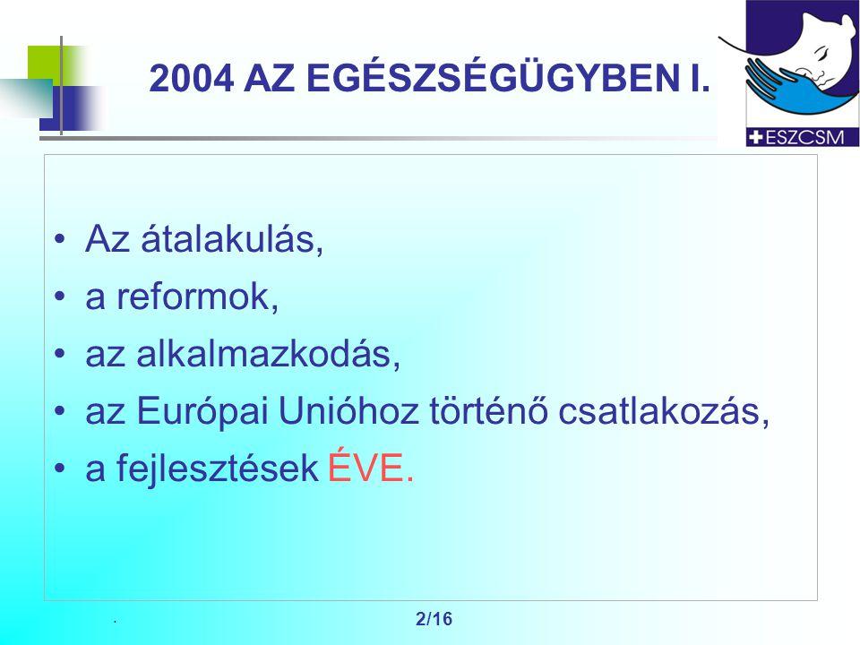 2/16 2004 AZ EGÉSZSÉGÜGYBEN I.