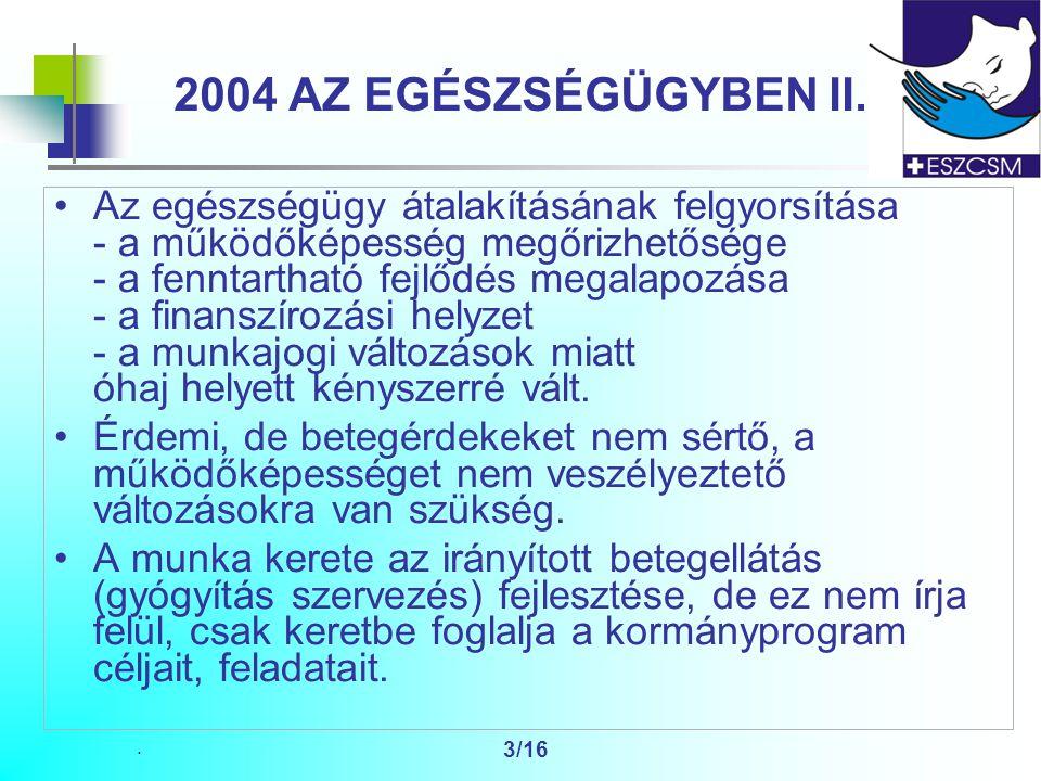 3/16 2004 AZ EGÉSZSÉGÜGYBEN II.