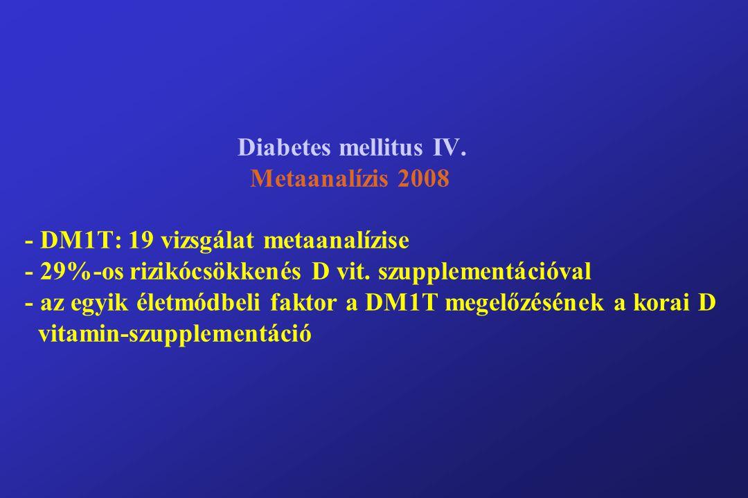 Diabetes mellitus IV.