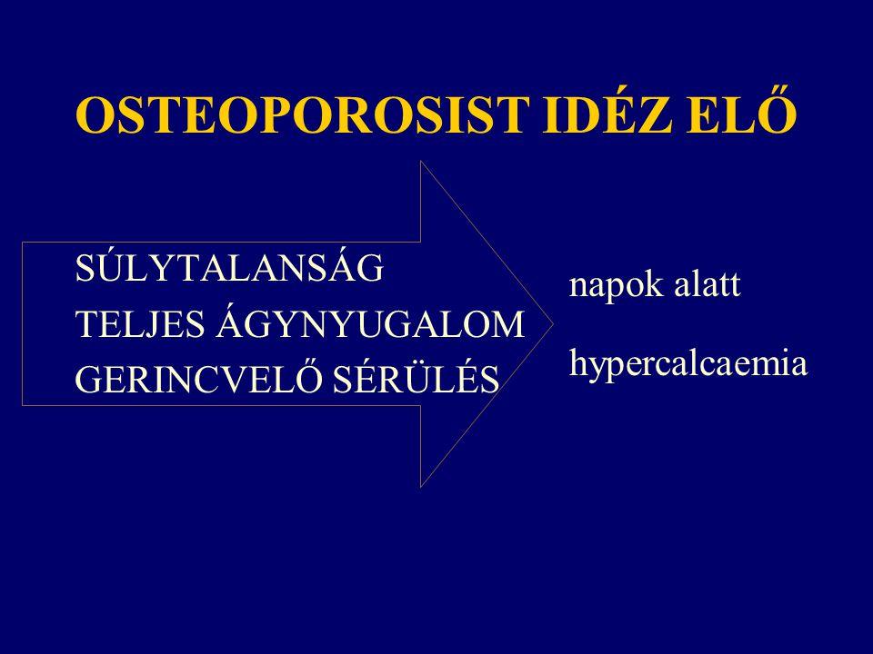 OSTEOPOROSIST IDÉZ ELŐ SÚLYTALANSÁG TELJES ÁGYNYUGALOM GERINCVELŐ SÉRÜLÉS napok alatt hypercalcaemia
