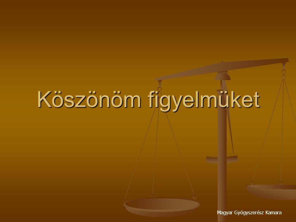 Magyar Gyógyszerész Kamara Köszönöm figyelmüket