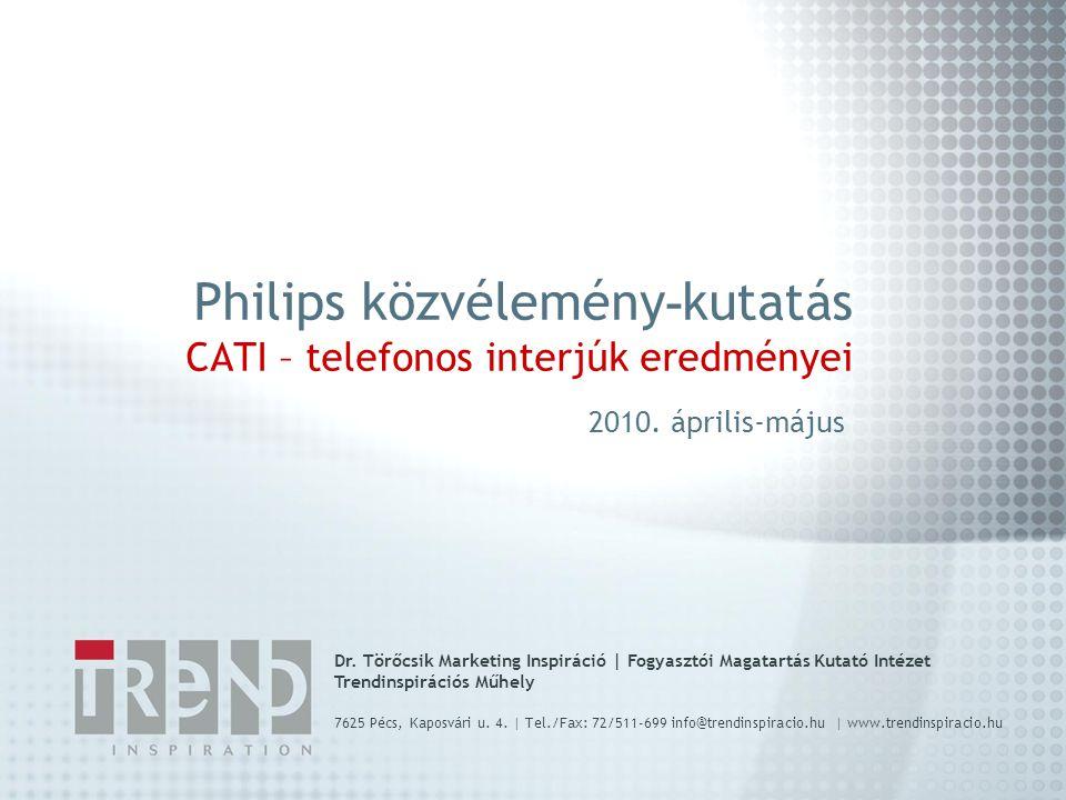 a kutatás háttere és módszertana A kutatás A kutatás a Philips Magyarország megbízásából készült, a mely cég a magyar egészségügyi diagnosztikában is érdekelt.