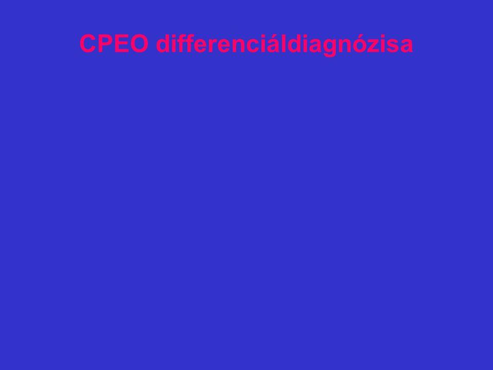 CPEO differenciáldiagnózisa
