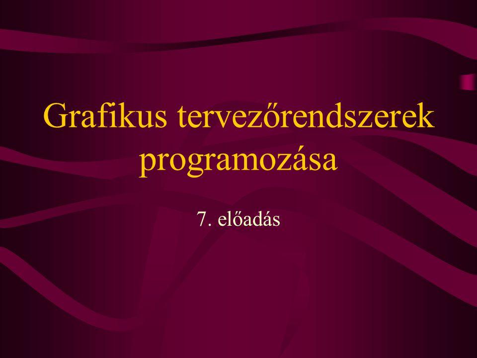 Grafikus tervezőrendszerek programozása 7. előadás