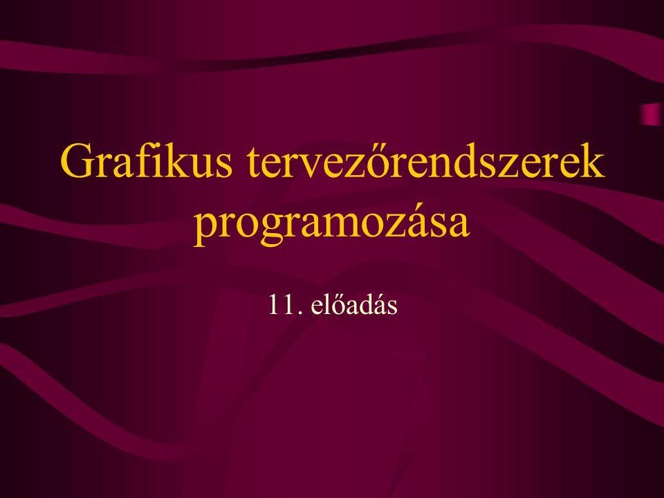 Grafikus tervezőrendszerek programozása 11. előadás