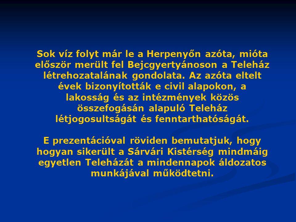 A TELEHÁZ PARTNEREI Civil szervezetek Magyar Teleház Szövetség Magyar Teleház Szövetség Nyugat-Dunántúli Regionális Tagozat Országos Foglalkoztatási Közalapítvány Biztonságos Magyarországért Közalapítvány Soros Alapítvány Fogyatékosok Esélye Közalapítvány Bejcgyertyános Gyermekeiért és Ifjúságáért Közalapítvány Önkéntes Tűzoltó Egyesület Bejcgyertyános Nyugdíjas Klub Bejcgyertyános Baba-mama Klub Bejcgyertyános Hegyháti Jóléti Szolgálati Alapítvány Vasvár Dr.