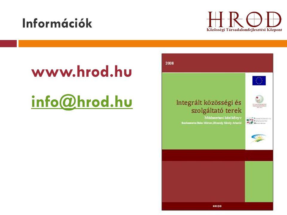 Információk www.hrod.hu info@hrod.hu