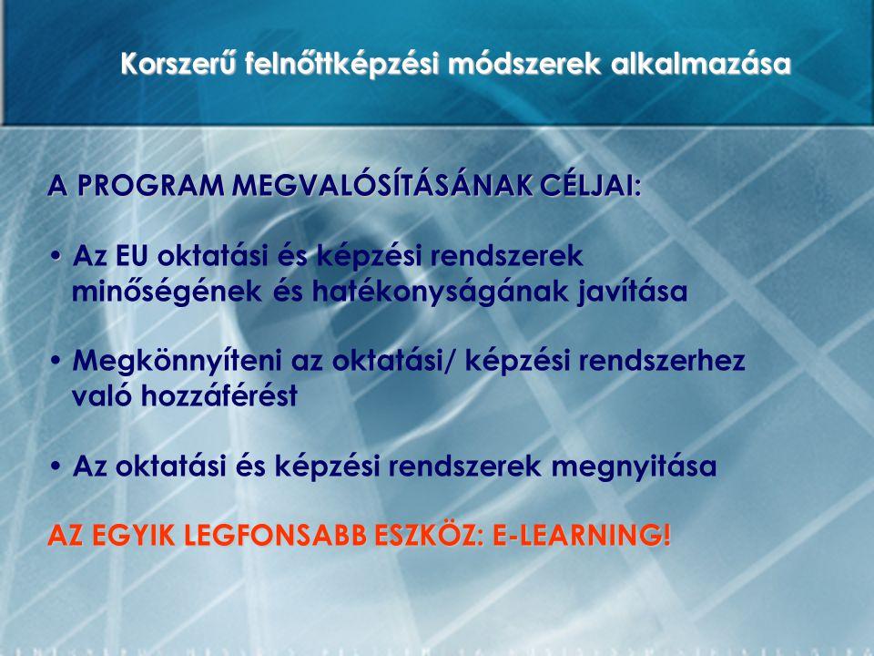 EREDMÉNYEK – FELADATOK Az e-learninges tapasztalatok alapján Magyarországon komoly tananyag-készítési és módszertani kultúra áll rendelkezésre az elektronikus távoktatási formák alkalmazásához.