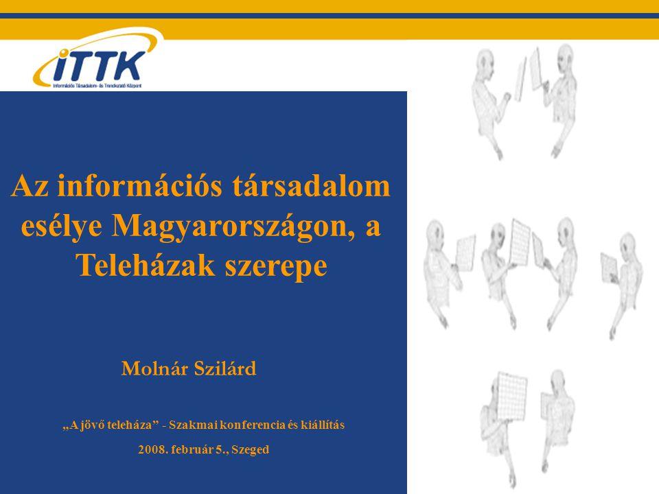 """Az információs társadalom esélye Magyarországon, a Teleházak szerepe Molnár Szilárd """"A jövő teleháza - Szakmai konferencia és kiállítás 2008."""