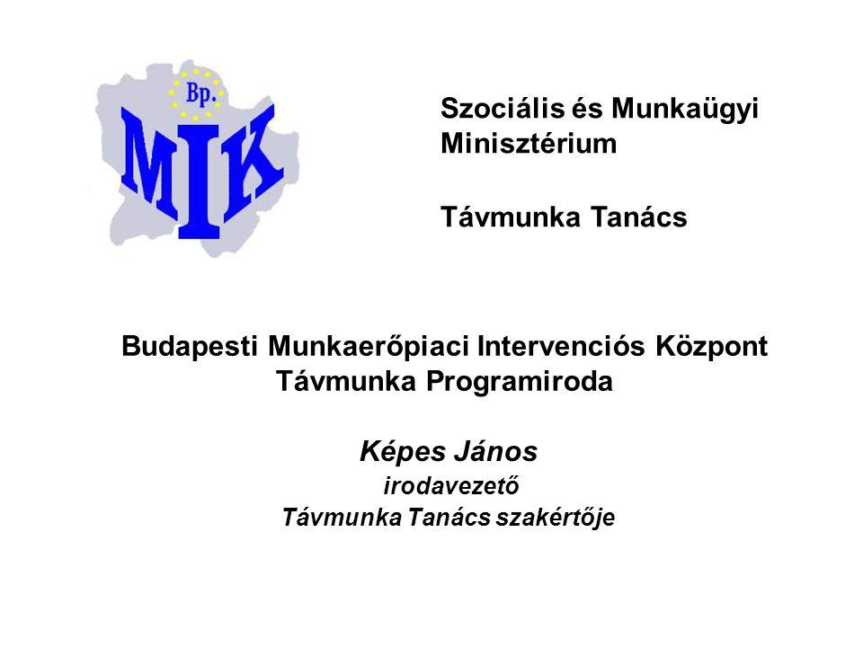 Budapesti Munkaerőpiaci Intervenciós Központ Távmunka Programiroda Képes János irodavezető Távmunka Tanács szakértője Szociális és Munkaügyi Minisztér