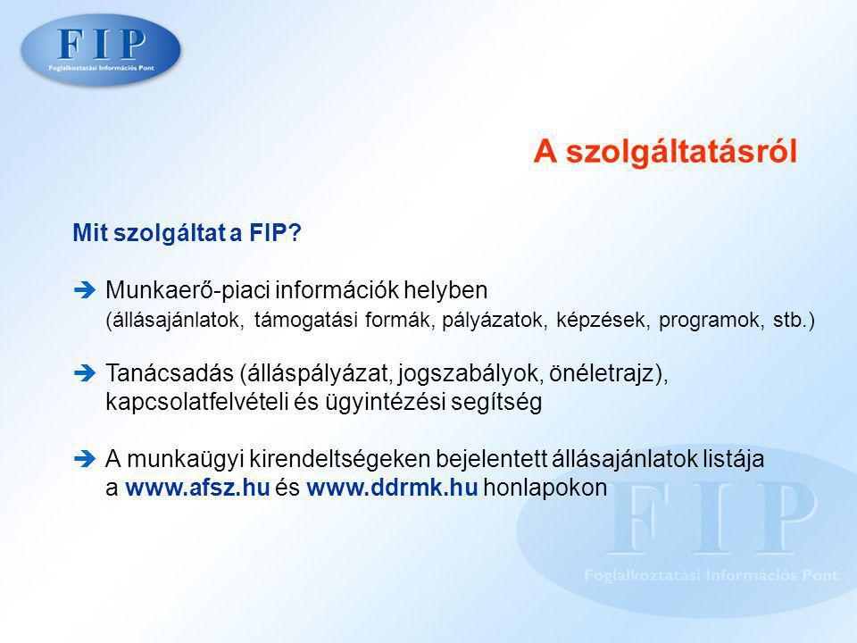 A szolgáltatásról Mit szolgáltat a FIP.