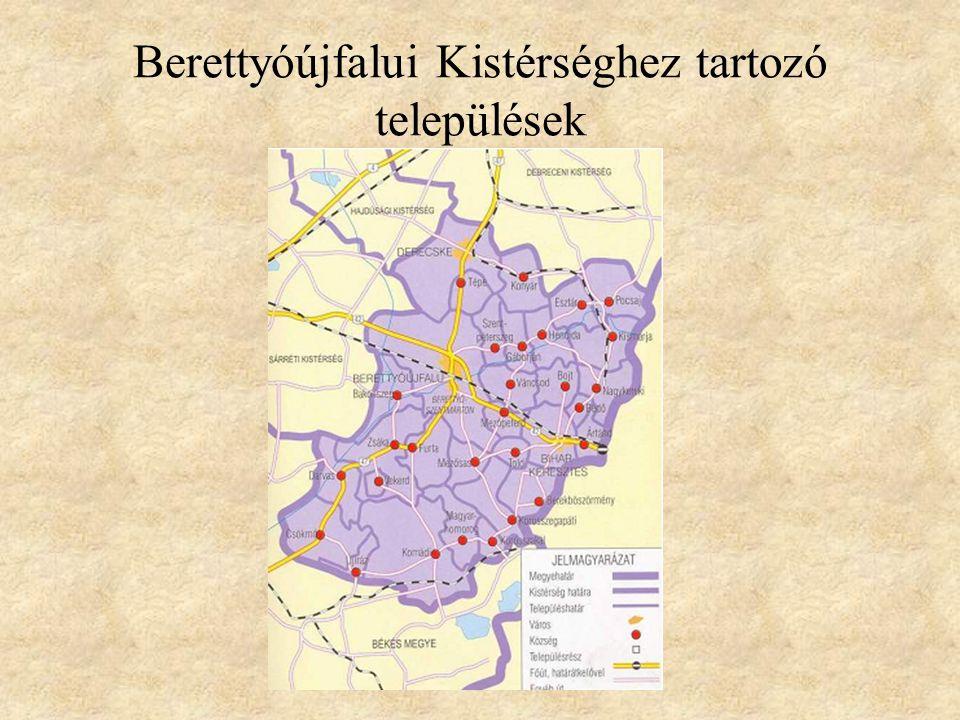 Berettyóújfalui Kistérséghez tartozó települések