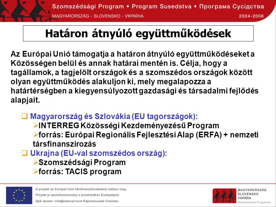 Pénzügyi keret - A program pénzügyi kerete 2004-2006 időszakra 31.733.503 EUR (+TACIS: 4,5 MEUR) ´1.