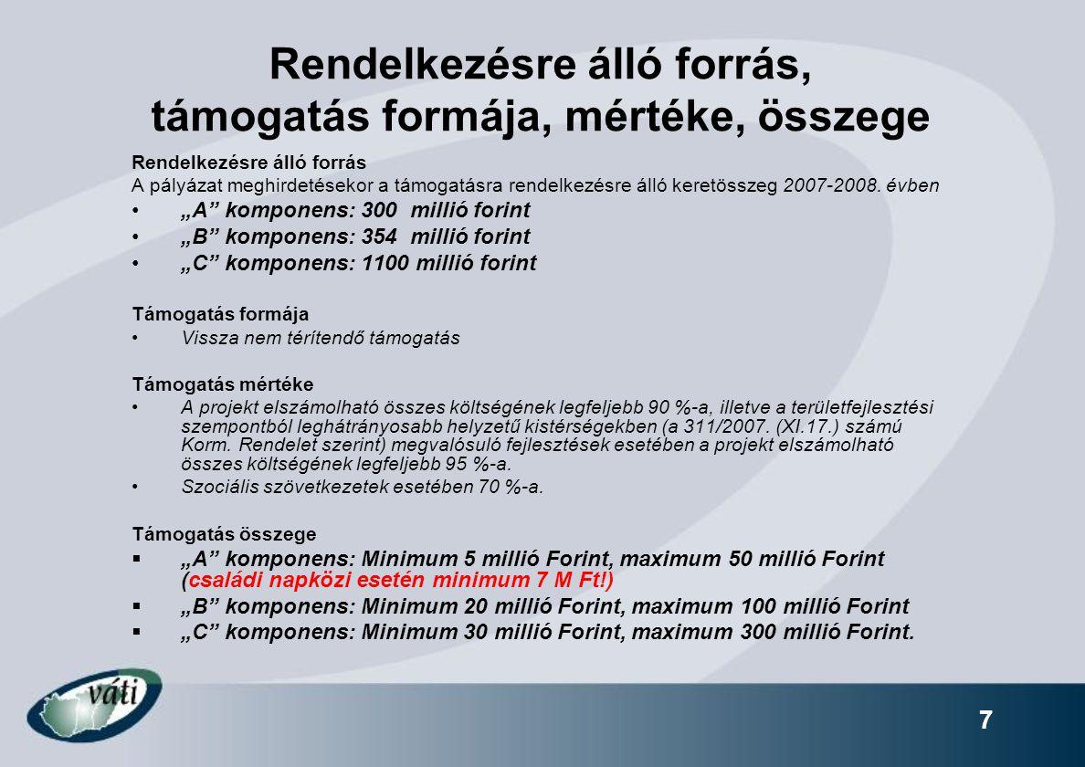 28 Projekt adatlap A projekt adatlap nyomtatott, eredeti példányának tartalmaznia kell a kitöltő program által generált vonalkódot és azonosító számokat.