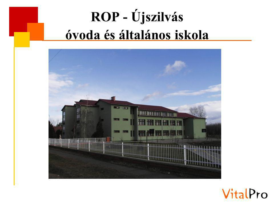 ROP - Újszilvás óvoda és általános iskola