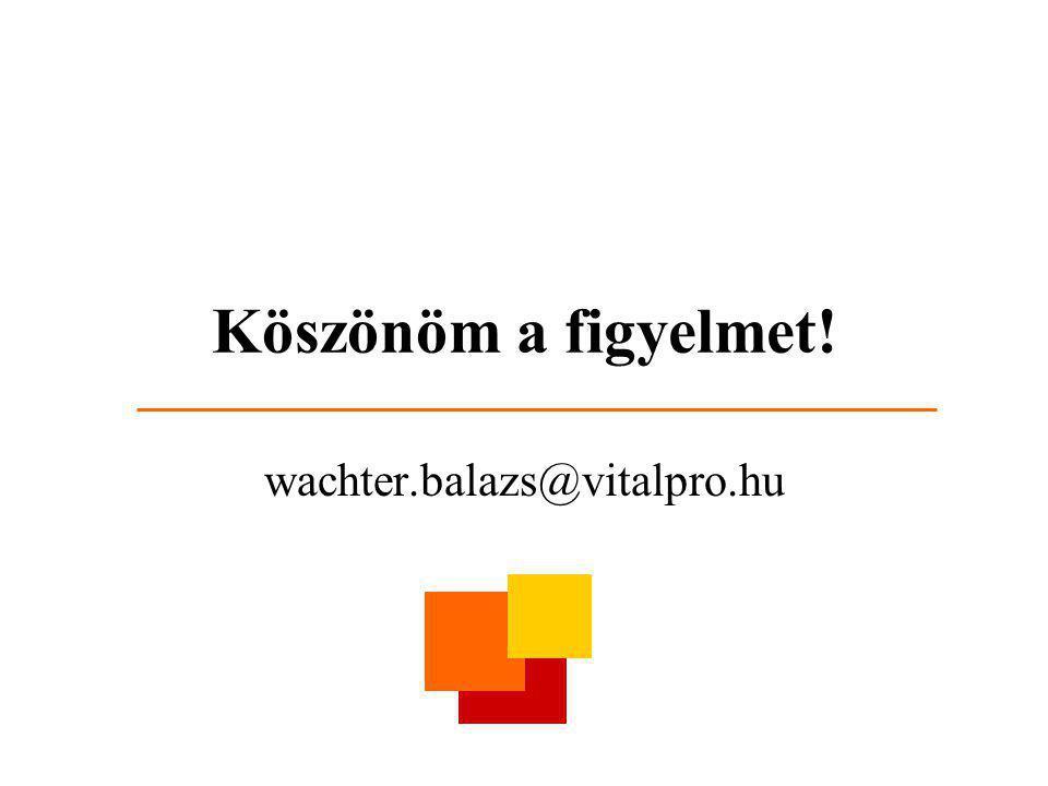 Köszönöm a figyelmet! wachter.balazs@vitalpro.hu