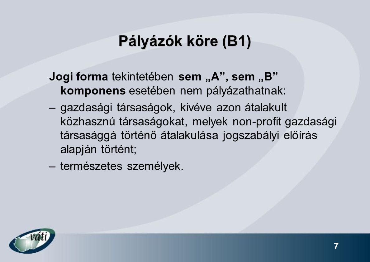 Kizáró okok, jogosulatlanság (B6): Adminisztratív feltételeknek való megfelelés - Pályázati adatlap nyilatkozatainak kitöltése.