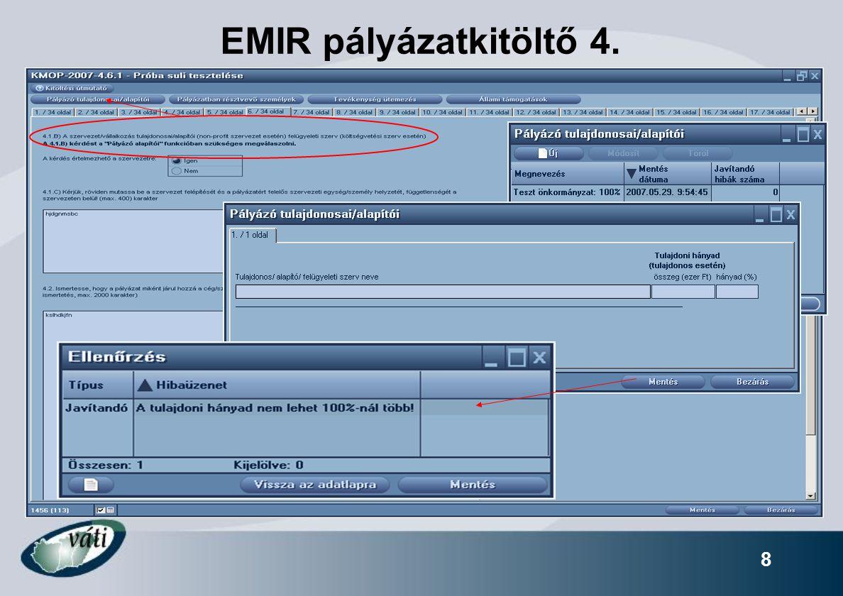 8 EMIR pályázatkitöltő 4.